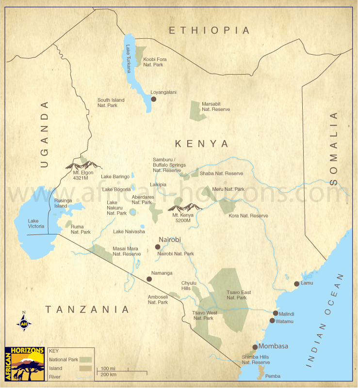 Map of kenya east african holiday safari travel tours gumiabroncs Image collections